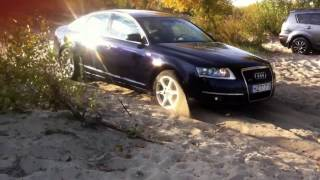 Audu А6 С6 quattro  2.7 TDI off road выезд c пляжа ауди