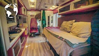 Moved into a CONVERTED AMBULANCE to TRAVEL the World