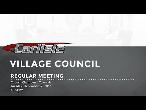 Village Council Meeting 12/12/2017