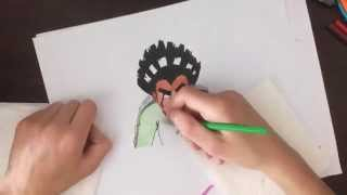 Speed drawing Rock Lee (naruto)