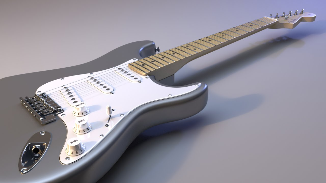 new maya training modeling a detailed electric guitar youtube. Black Bedroom Furniture Sets. Home Design Ideas