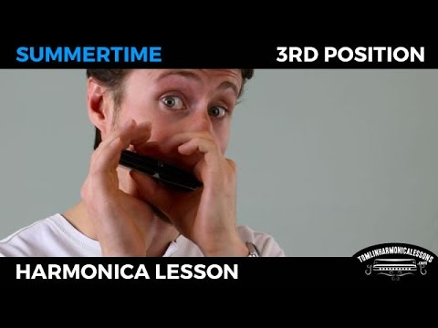 Summertime in 3rd position - Blues Harmonica Lesson on G harmonica + Free Harp Tab