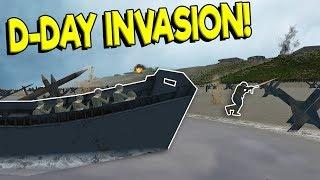 HUGE D-DAY OMAHA BEACH INVASION! - Ravenfield Gameplay - WW2 Mod