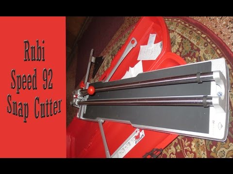 Rubi speed 92 Tile Snap Cutter - 동영상