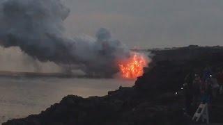 Huge Lava Delta Collapse In Hawaii (Dec. 31, 2016)