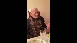 94 Year Old Grandfather Sings Yiddish Song 'Le Chaim', Brighton Beach, Brooklyn New York