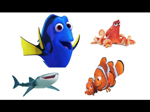 finding dory characters youtube. Black Bedroom Furniture Sets. Home Design Ideas