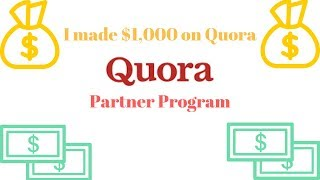 I made $1,000 Dollars on Quora