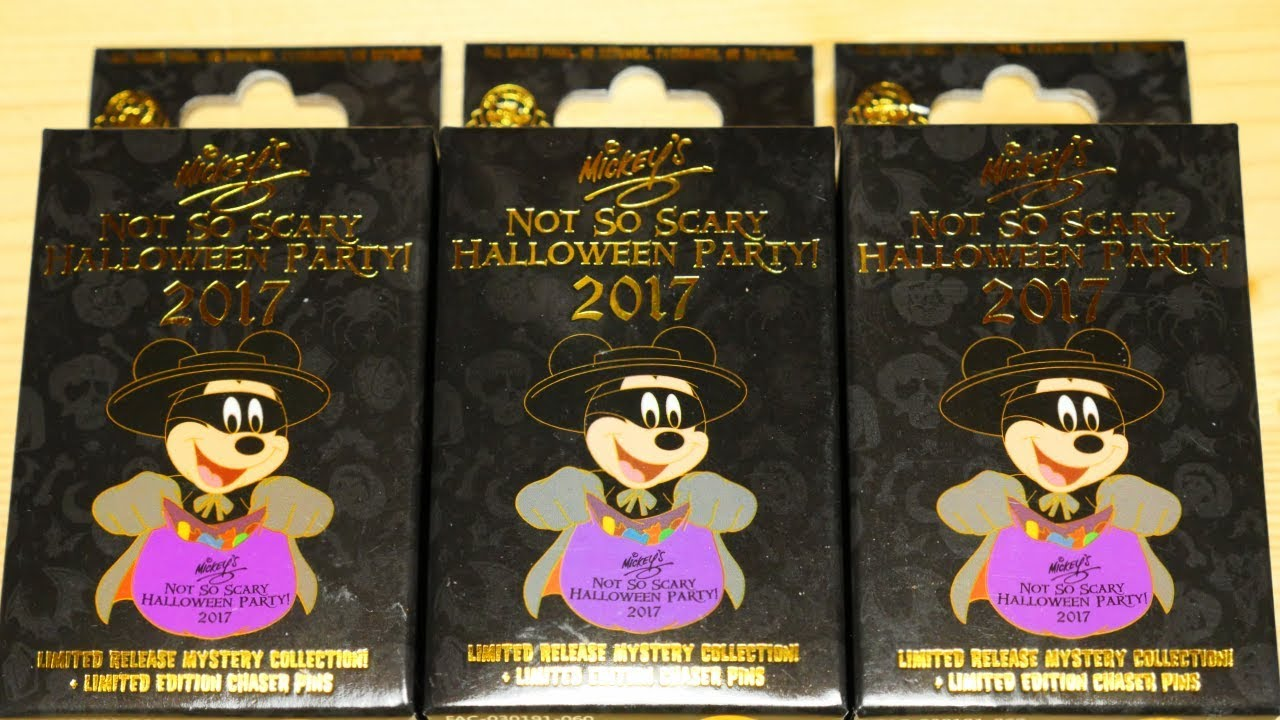 Mickey's Not So Scary Halloween Party 2017 Mystery Pin Collection ...