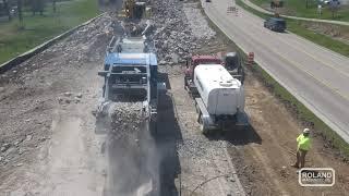 视频仍然适用于Kleemann破碎和筛选罗兰机械的设施非常适合Wingra Stone Company