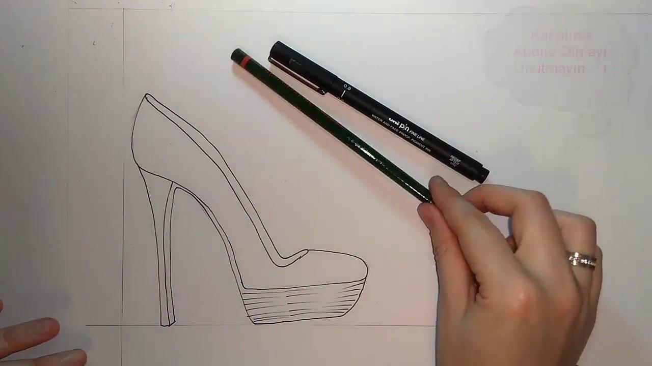 Ayakkabı Çizimleri karakalem