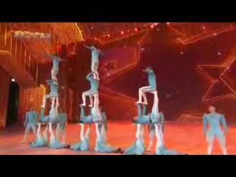 Women Acrobats Doing Tricks at Circus