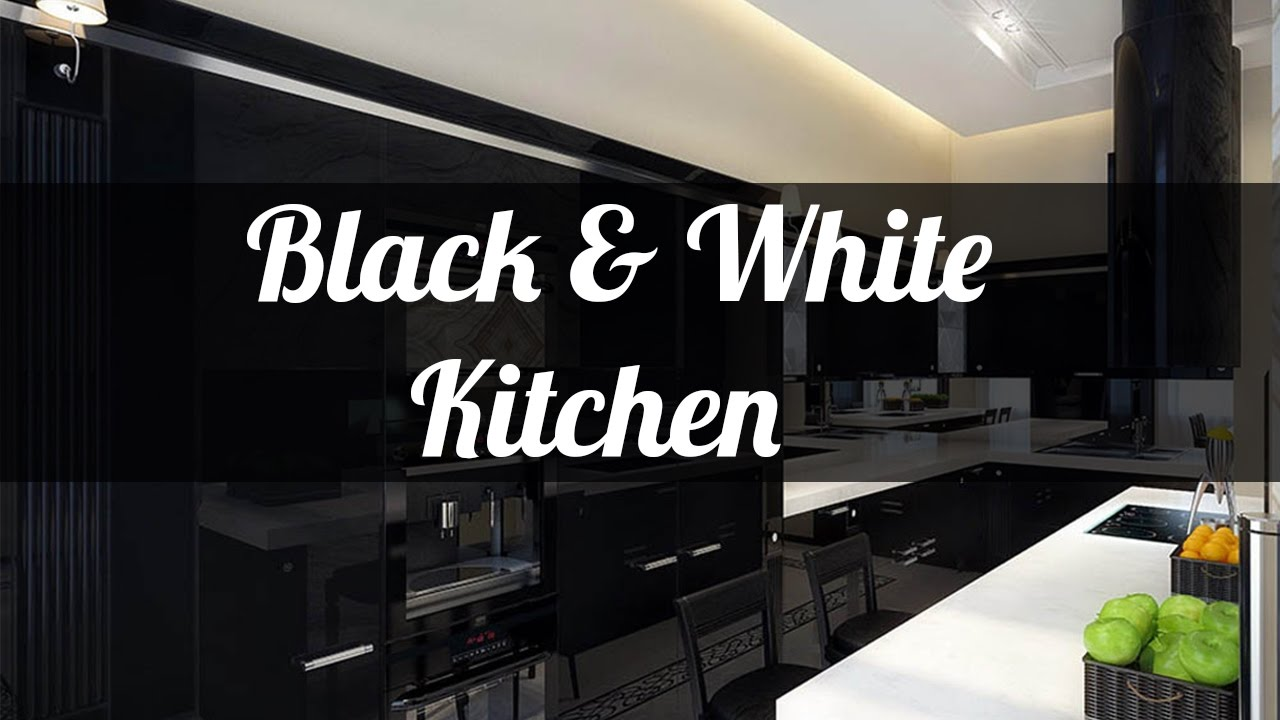 25+ Black And White Kitchen Design Ideas Part 95