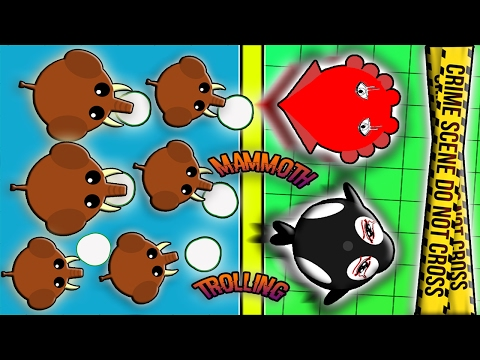 1 TROLLER MAMMOTH VS 999 ANIMALS! THE BEST MOPE.IO MAMMOTH TROLLING! (Mope.io)