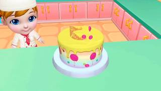 My Bakery Empire Kids Fun game Baby Learn Colors Tasty Cake Maker Games for Children!