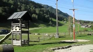 Schweizer Familie Feuerstelle - Sumvitg