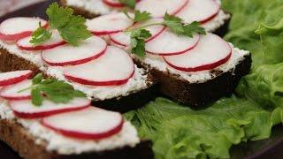 Бутерброды с редиской   Radish Sandwich