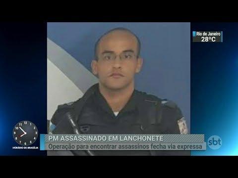 Mais um policial militar é morto em tentativa de assalto no RJ | SBT Brasil (21/02/18)