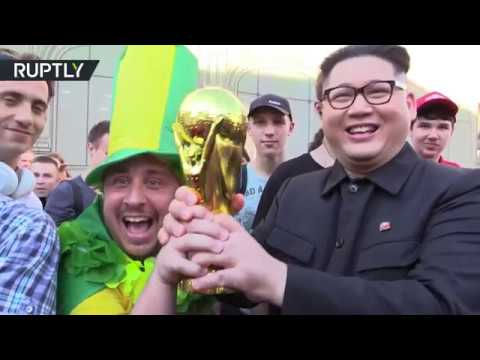'Next World Cup in North Korea': Kim Jong-un lookalike visits Moscow