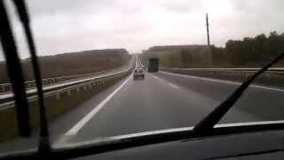 Бешеная табуретка. Почти 170 км/ч. ('Блондинка на «Оке» на скорости 170 км/ч «сделала» BMW X6') FHD