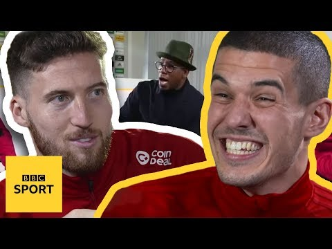 Ian Wright plays Would I Lie To You? with Conor Coady and Matt Doherty - BBC Sport