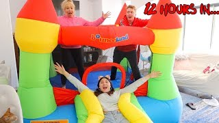 Last To Get Off BOUNCY HOUSE Wins $10,000 Challenge!