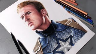 Desenhando o Capitão América (Steve Rogers) - Vingadores Ultimato