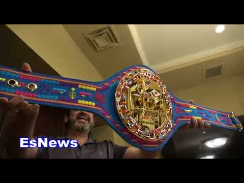 (ON FIRE) Check Out WBC Belt For GGG Cinco De Mayo Fight EsNews Boxing