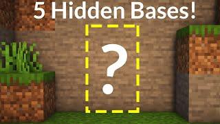 5 Simple Hidden Bases in Minecraft!