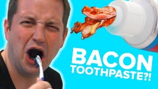People Try Strange Toothpaste Flavors