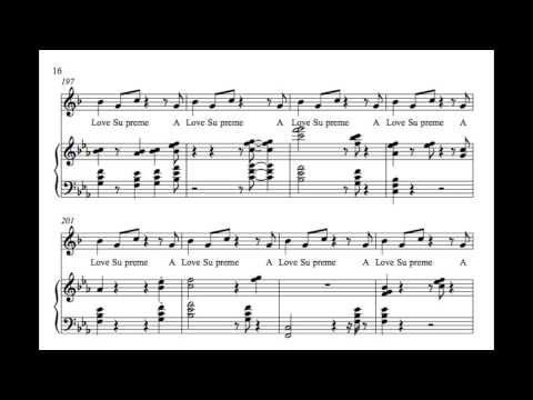 A Love Supreme Transcription (Coltrane and McCoy Tyner Comping)