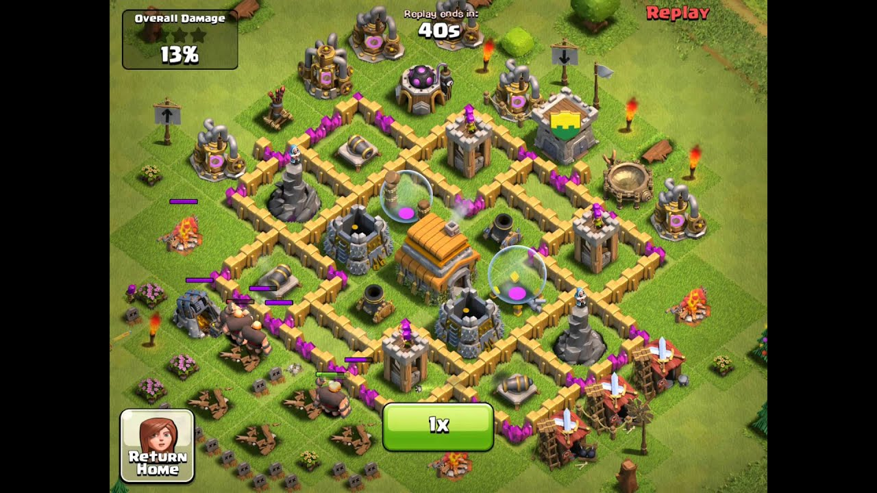 Clash of Clans - Best Lvl 6 Town Hall Attacked (1) - YouTube