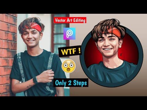 #Picsart #Vectorart Picsart New Portrait Cartoon Photo Editing|New Vector Art Photo Editing 2020