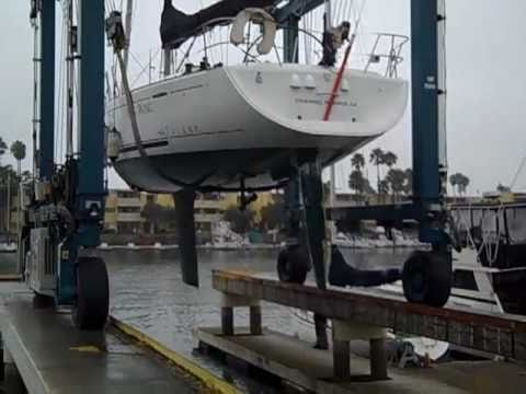 Beneteau 44.7 First Sailboat, Haul out for survey By: Ian Van Tuyl