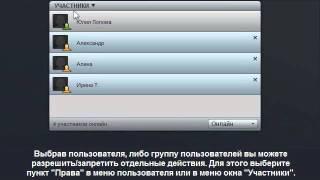 """Окно """"Участники"""". Видеоурок по работе с Webinar.ru"""