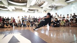 Hype and fun battle! bboy AtomicGoofball VS  Bgirl Sunny