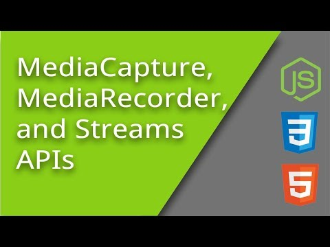 Capturing And Saving User Audio Or Video With JavaScript