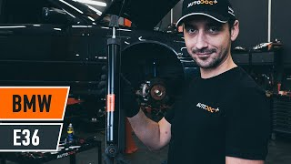 How to change rear shock absorber on BMW E36 [TUTORIAL AUTODOC]