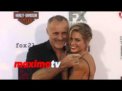 Timothy V. Murphy & Caitlin Manley  Sons of Anarchy Season 7 Premiere  Red Carpet