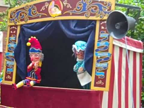 Punch and Judy Show at London Covent Garden May Fayre