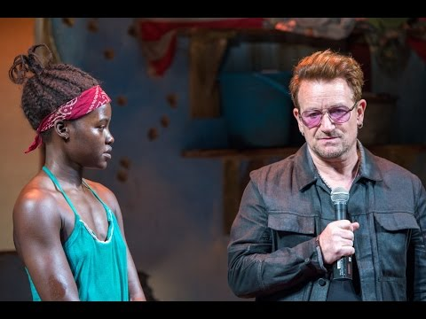 """U2News - Bono joins """"Eclipsed"""" cast on stage to remember missing schoolgirls abducted in Nigeria"""