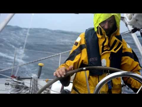 Steering a 60ft Sailing Yacht in Hurricane force winds