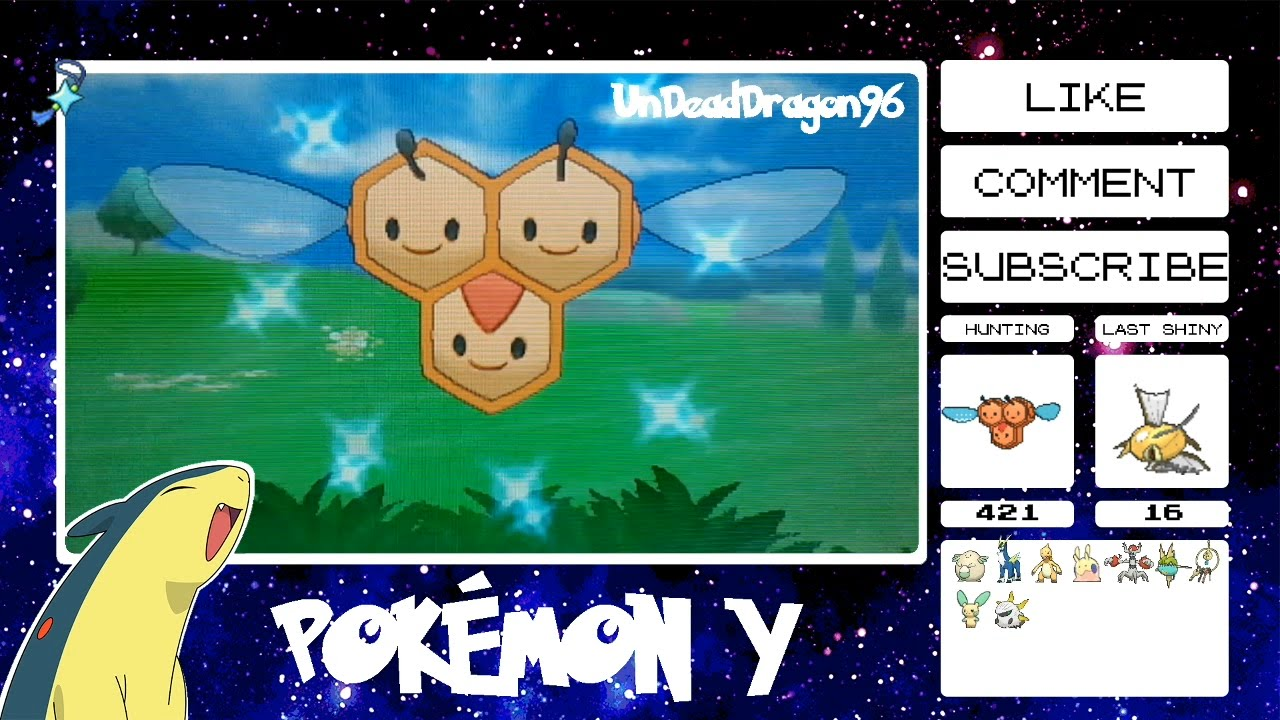 Shiny Female Combee Live Reaction 421 Encounters In Friend Safari On Pokémon Y