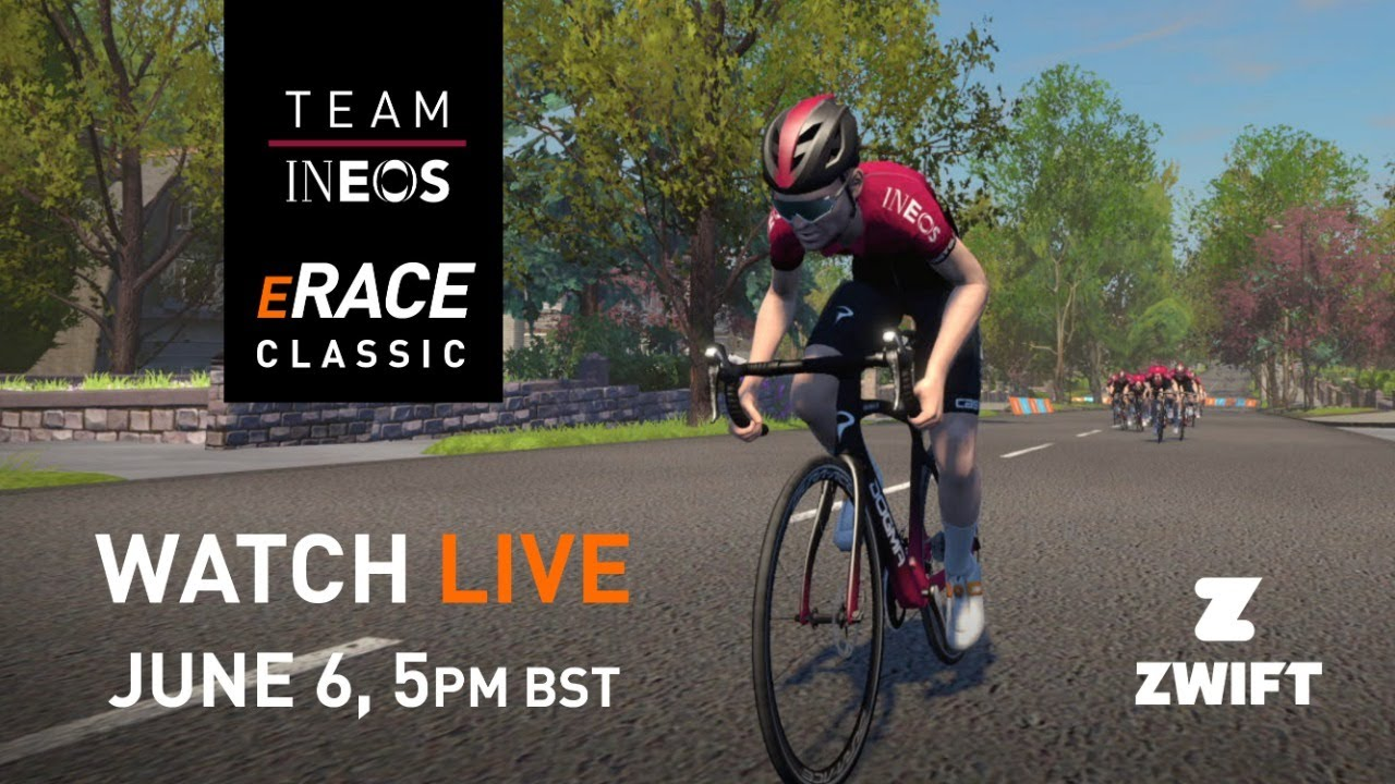 WATCH AGAIN: Team INEOS eRace Classic