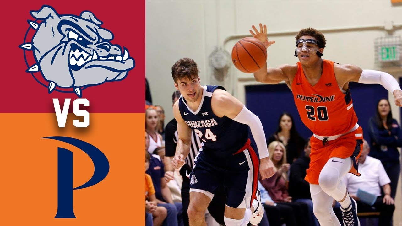 #2 Gonzaga vs Pepperdine Highlights 2020 College Basketball