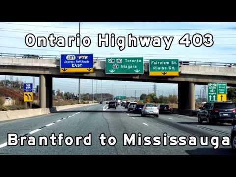 2017/10/22 - Ontario Highway 403 - Brantford to Mississauga