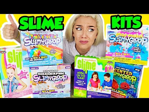 TESTING SLIME KITS! Holographic Slime, Blue Raspberry Slime, Glitter Slime   NICOLE SKYES