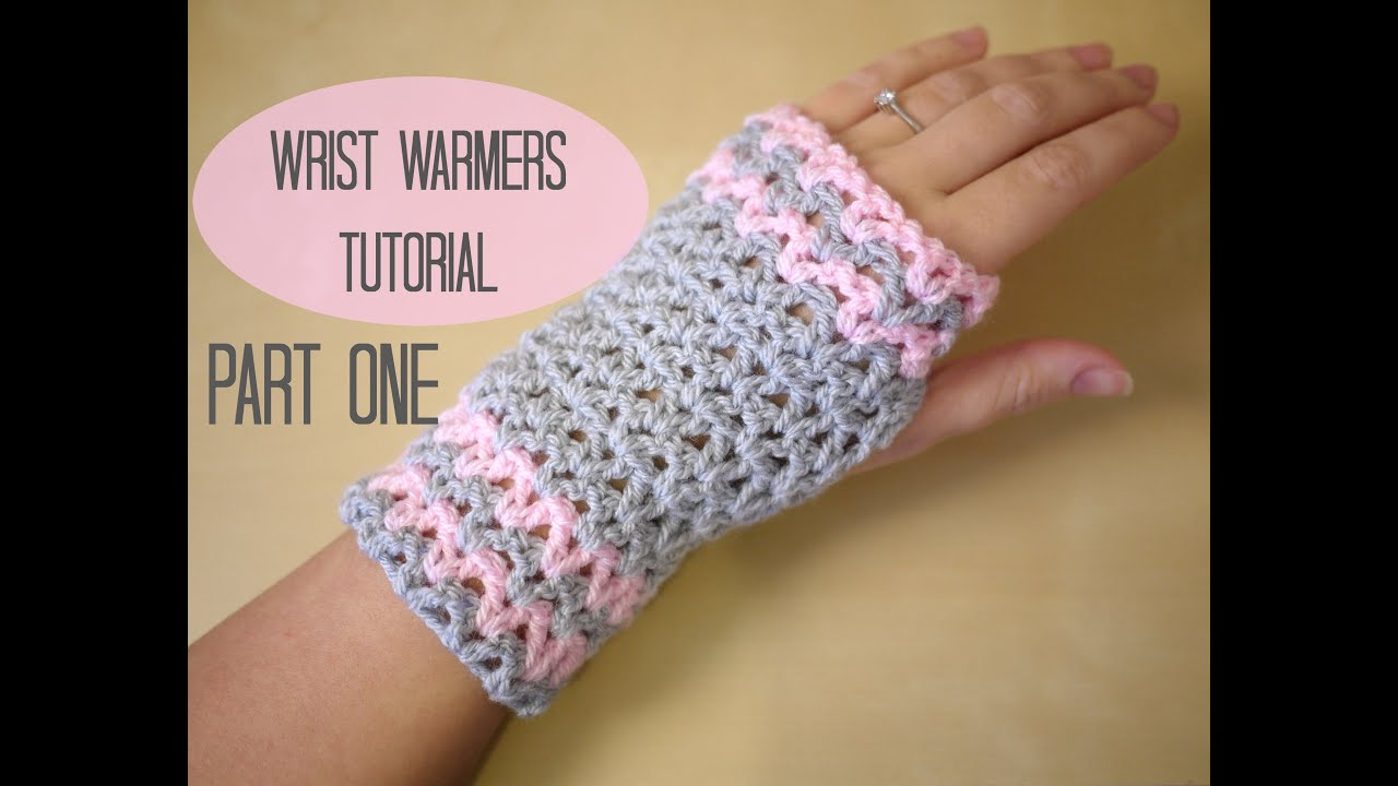 Free Crochet Patterns Hand Warmers : CROCHET: Wrist warmers PART ONE Bella Coco - YouTube