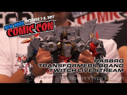 NYCC 2017 Hasbro Transformers Twitch Live Stream - Titan Class Predaking wing revealed!