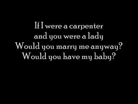 Johnny Cash and June Carter - If I were a carpenter with lyrics